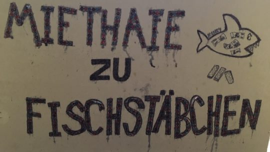 Solidarisierung der Mieter-Inis in Charlottenburg-Wilmersdorf: Wir waren beim Kiezrundgang zum Thema Mieten & Verdrängung am 11.5.19