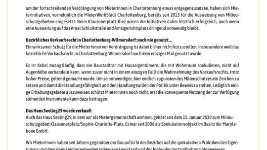 Offener Brief an Bezirksbürgermeister Naumann, Baustadtrat Schruoffeneger und den Regierenden Bürgermeister Müller